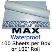 "QuickFilm MAX Waterproof 24"" x 100"" Roll"
